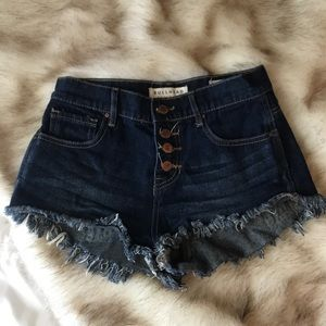 Pac sun dark wash jean short